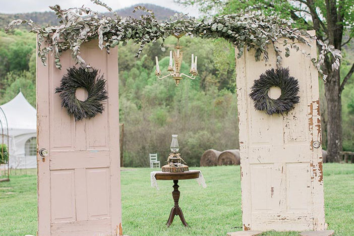 vintage wedding ceremony arch designs